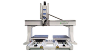 Routeur CNC ATC double table 4 axes